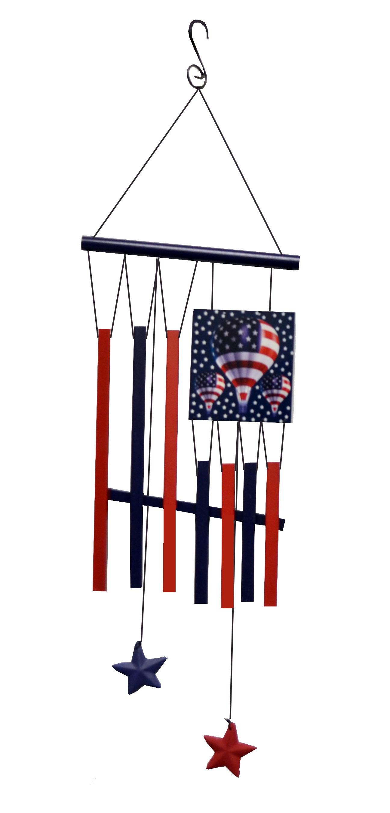 Hot Air Balloon Patriotic Wind Chime