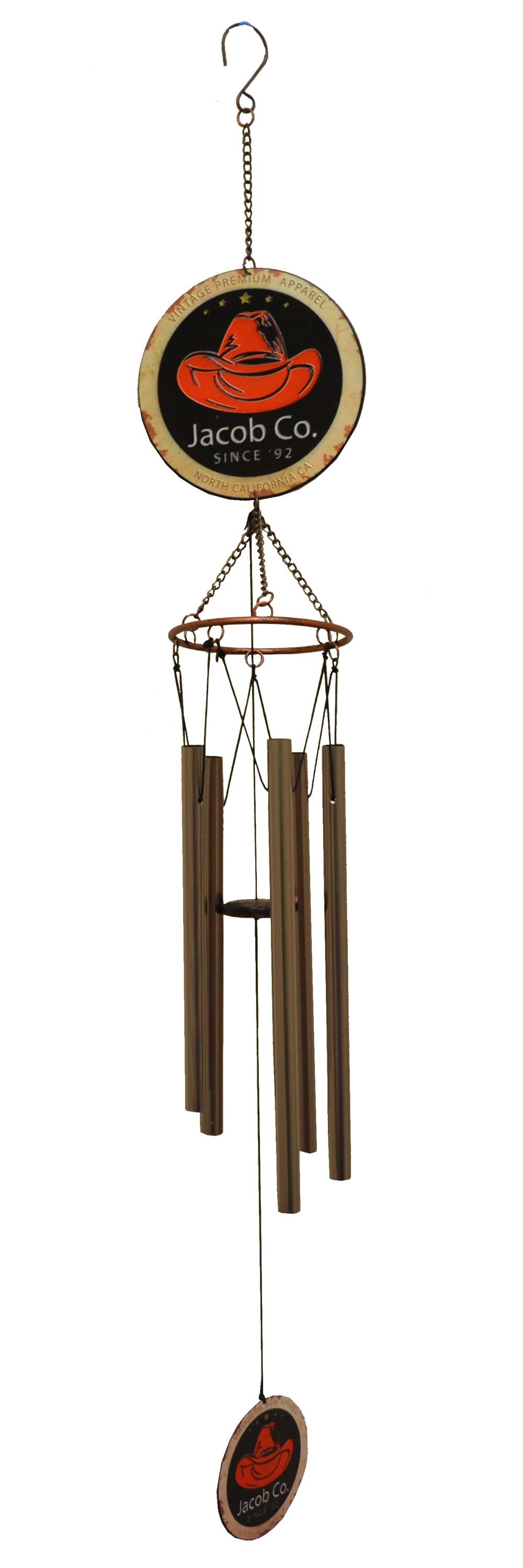 HAT PRINTED IRON TOP WIND CHIME