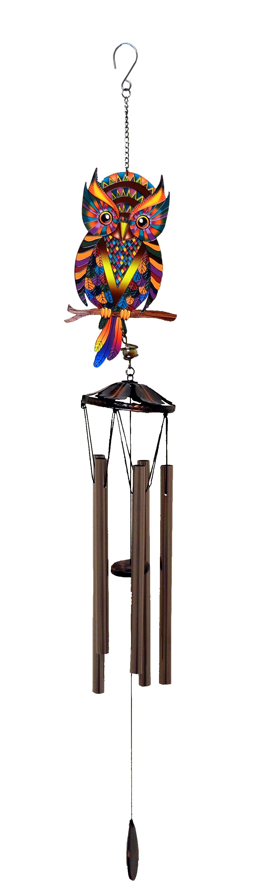 OWL BRAZILIAN STYLE PRINTED WIND CHIME