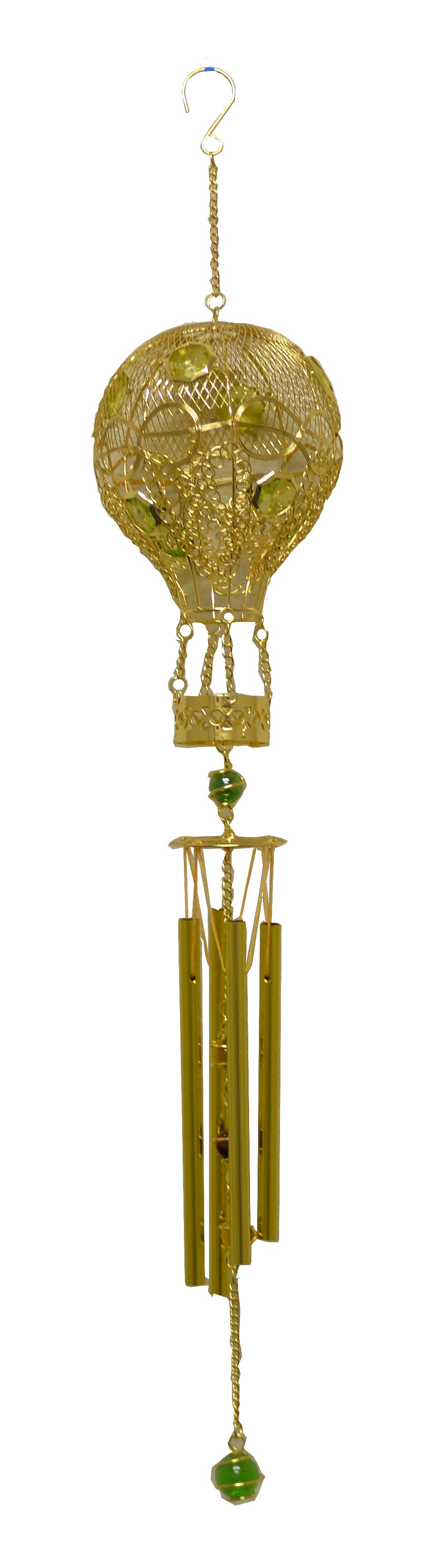 GOLD HOT AIR BALLOON METAL WIRED CHIME
