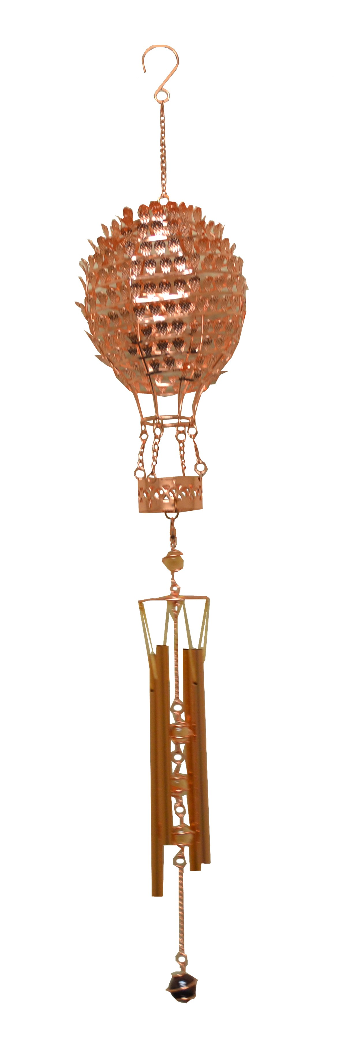 ROSEGOLD HOT AIR BALLOON METAL WIRED CHIME