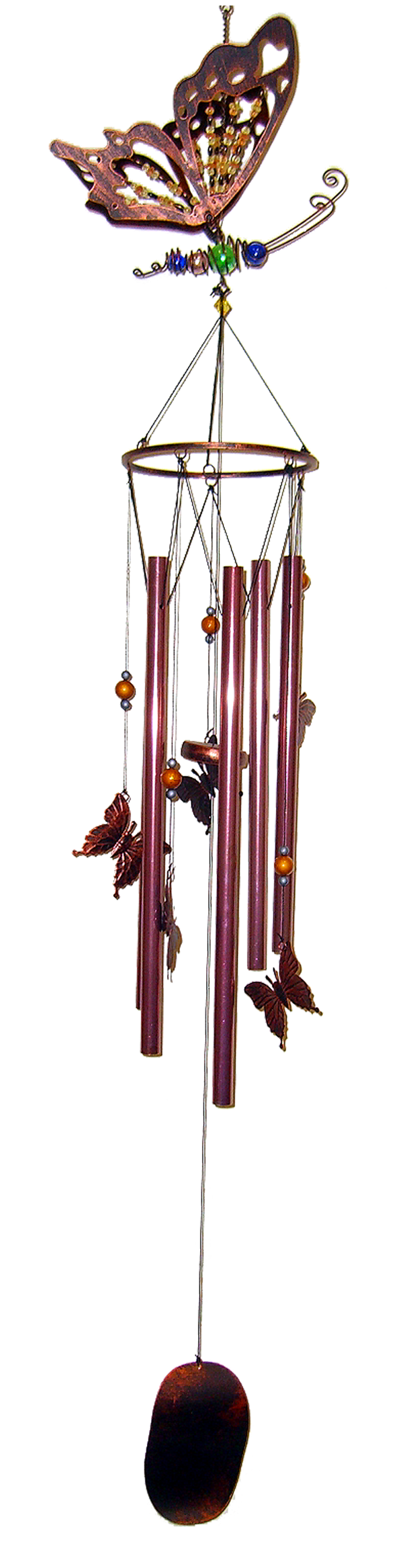 Copper Butterfly Large Metal Chime 36 inch 306003