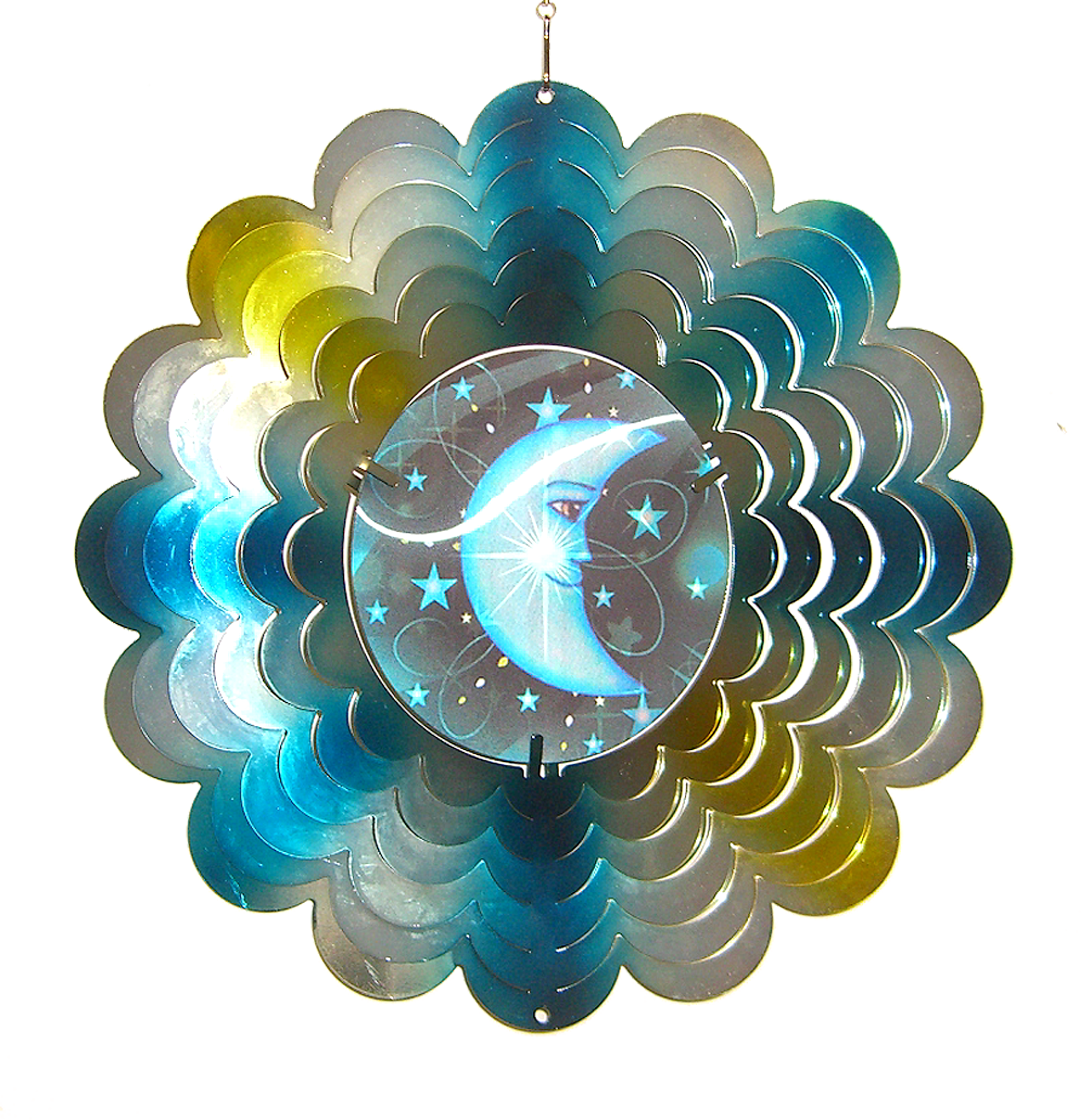 Sun/moon/star Holographic Spinner 12 inch 609002
