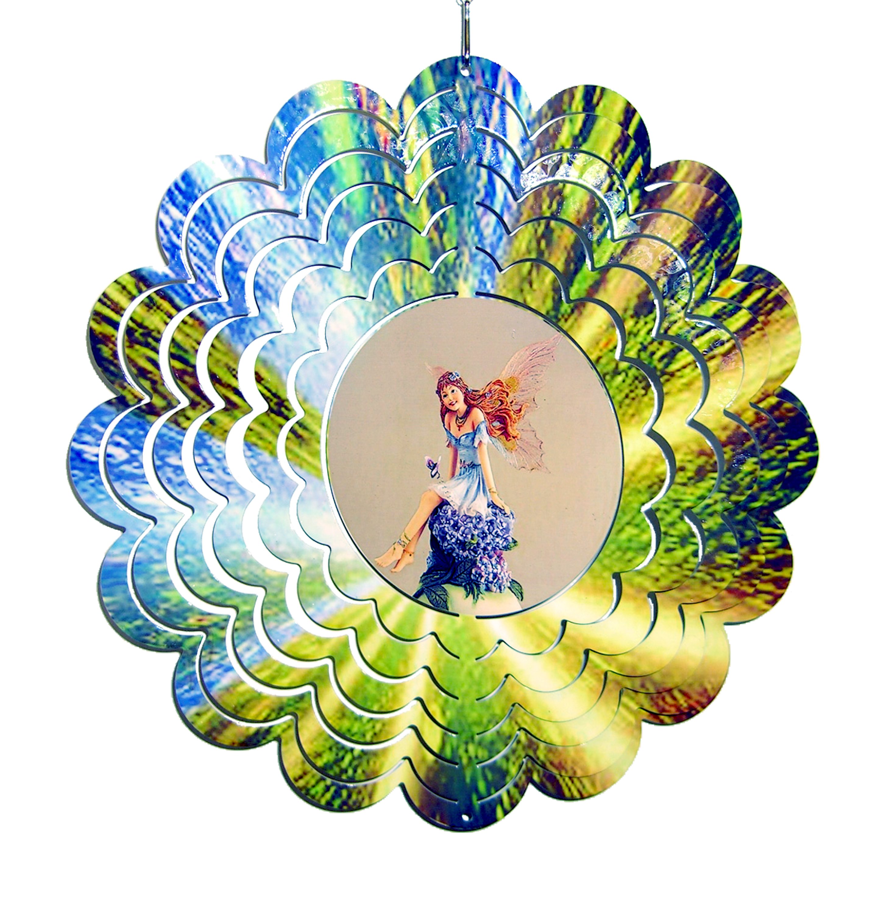 Fairy Metal Painted Spinner 12 inch 610008