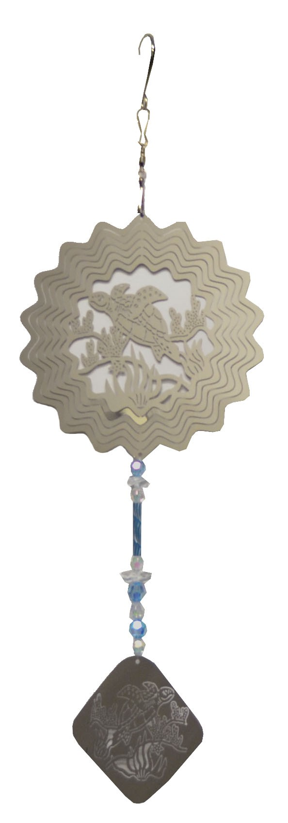 turtle with blue wind chime 882001