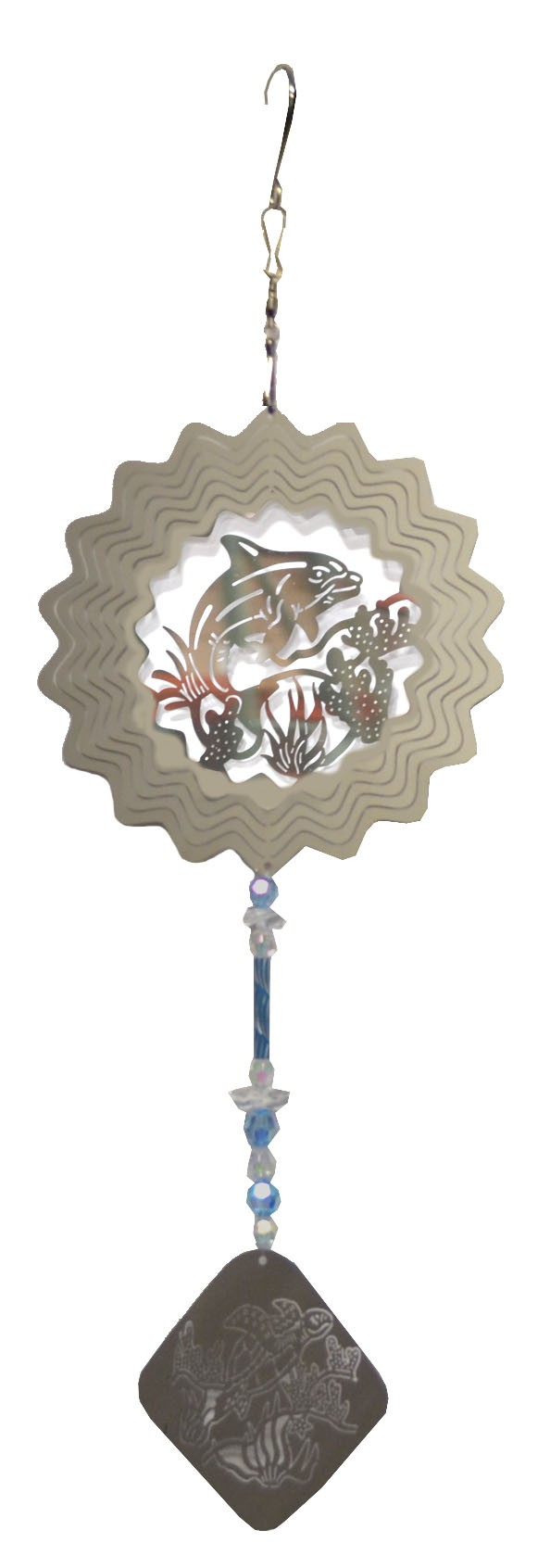 dolphin with blue wind chime 882002