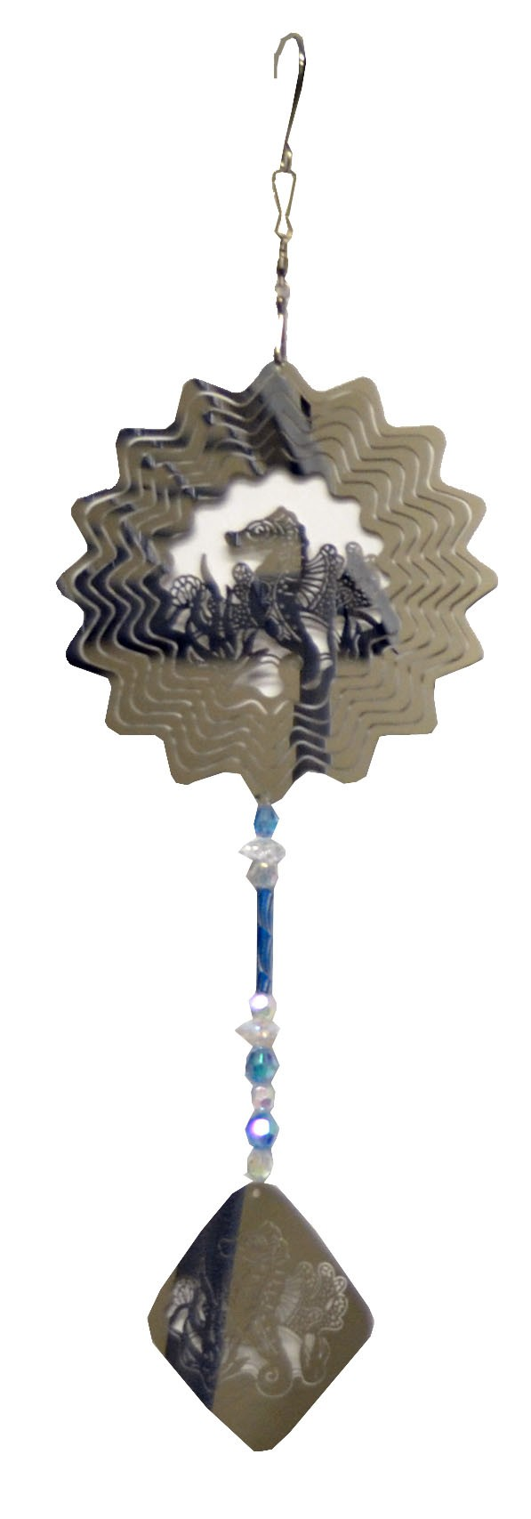 sea horse with blue wind chime 882004