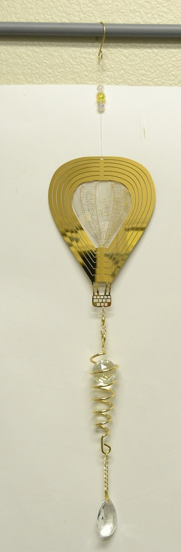 Gold Designs Hot Air Balloon Spiral Tail