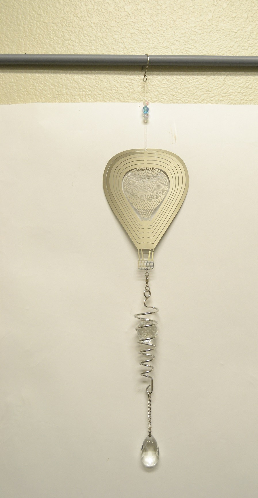 Silver Flower Designs Hot Air Balloon Spiral Tail