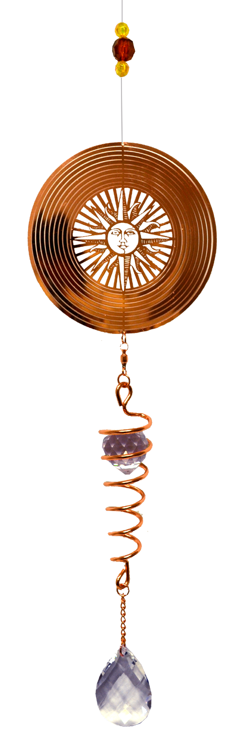 Sun Rose Gold Spinner with spiral Tail 24 inch 885004