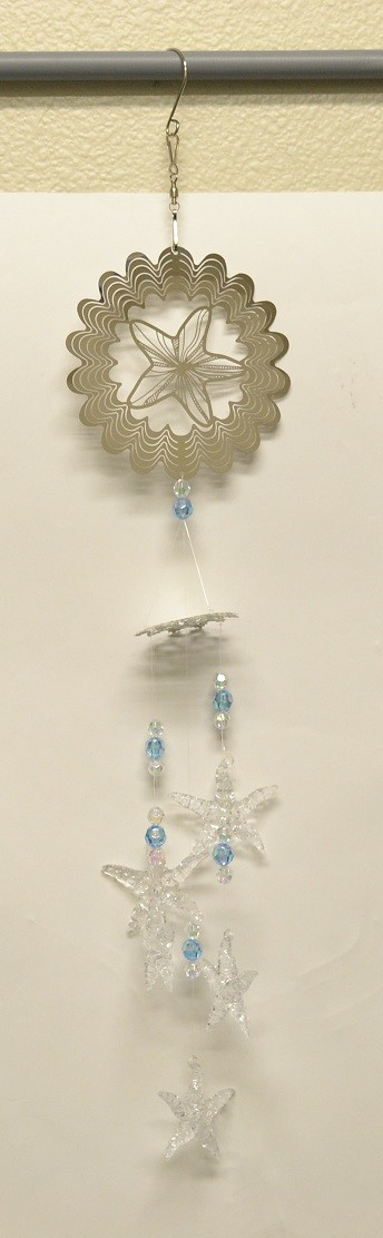 Star Fish Silver Wind Chime
