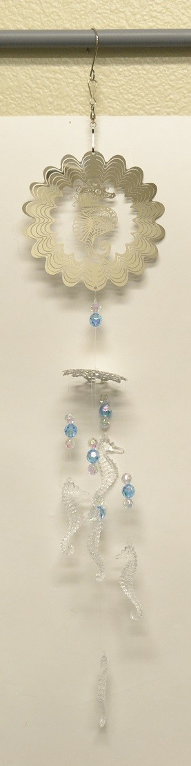 Sea Horse Silver Wind Chime