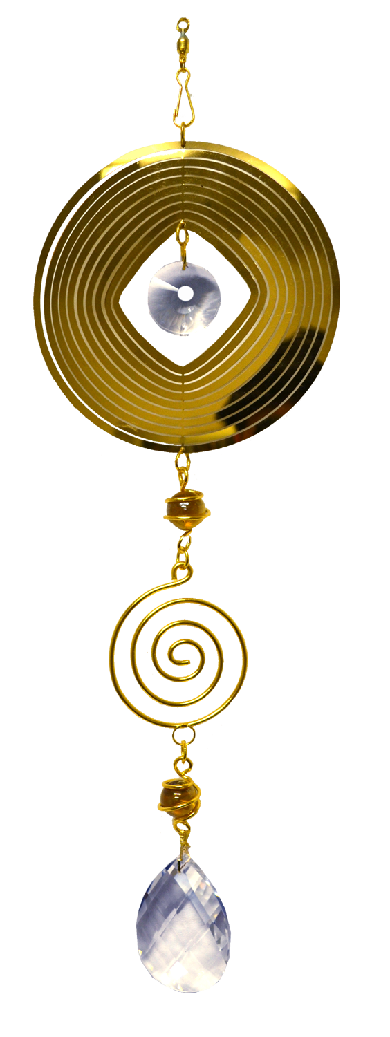 Round Gold Spinner with spiral 24 inch 890001