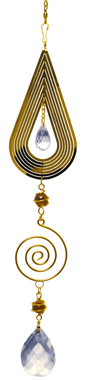 Rain Drop Gold Spinner with spiral 24 inch 890005