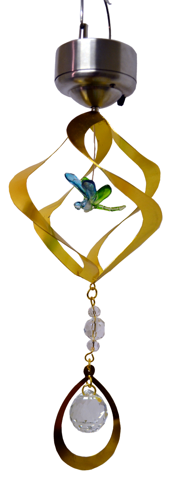 Dragonfly Solar Hanging Metal Rotating with led 24 inch 897001