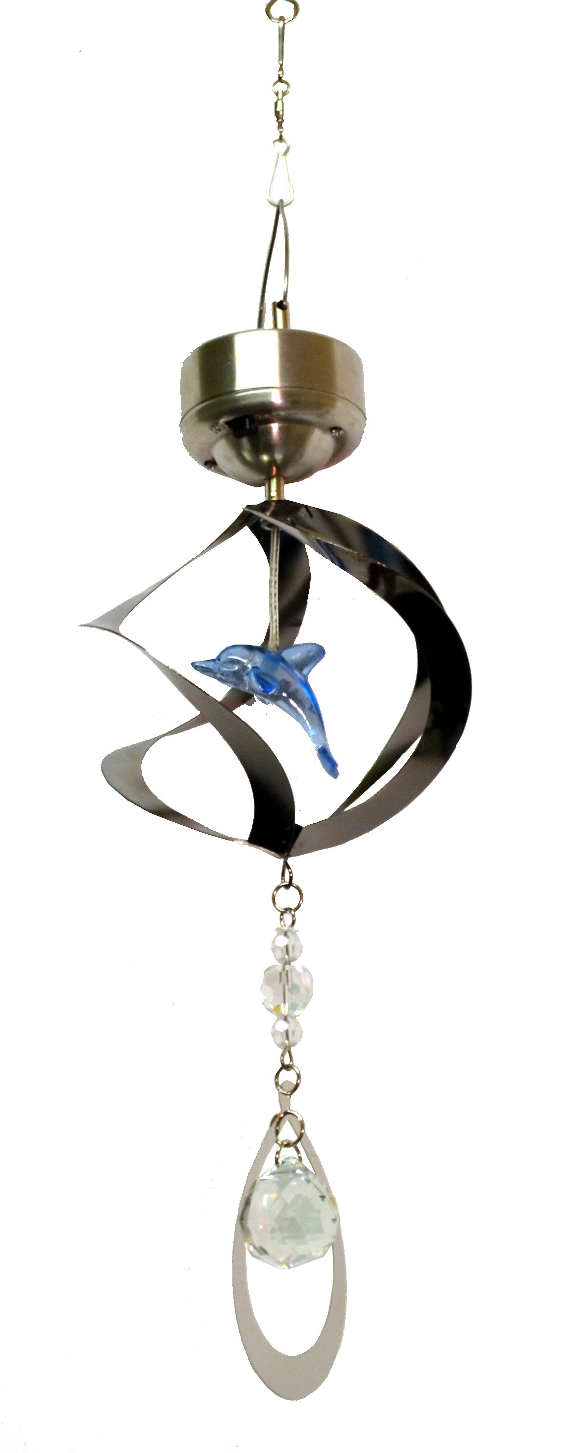 DOLPHIN-SOLAR HANGING METAL ROTATING WITH LED