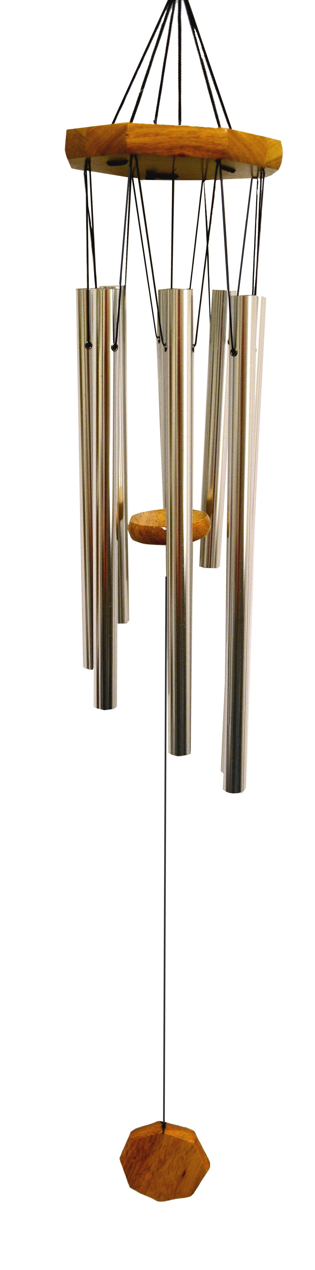 SILVER- OCTAGON TOP HAND TUNE CHIME