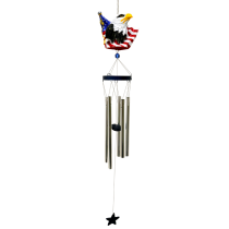 Poly Resin Patriotic Chime Eagle Head Short Neck 36 inch 108604
