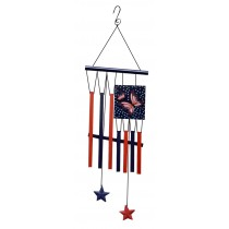 Butterfly Patrioic Wind Chime