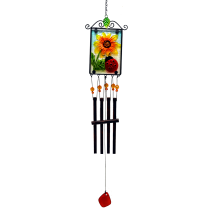 Ladybug Stained Glass Picture Chime 36 inch 112302