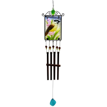 Bird Stained Glass Picture Chime 36 inch 112303