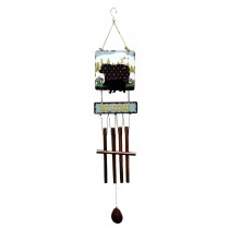 BEAR PRINT SQUARE TOP WIND CHIME