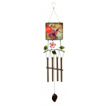 DFLY PRINT SQUARE METAL TOP  WIND CHIME