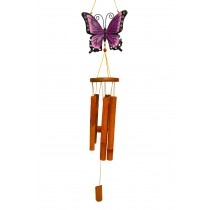 PURPLE- LARGE BUTTERFLY BAMBOO CHIME
