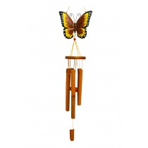YELLOW- LARGE BUTTERFLY BAMBOO CHIME
