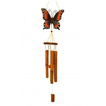 RED- LARGE BUTTERFLY BAMBOO CHIME