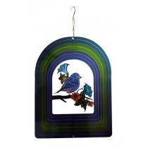 Two Blue Bird Small Wind Spinner