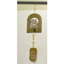 Bird Gold Wind Chime