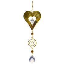 Heart Gold Spinner with spiral 24 inch 890003