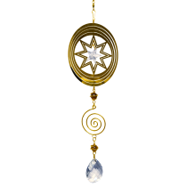 Oval Gold Spinner with spiral 24 inch 890004