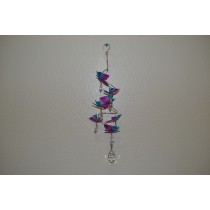 Butterfly SPRING WIRE W/crystal hanger