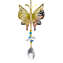 Gold Butterfly with crystal Hanger 24 inch 896003