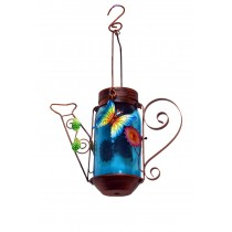 B.F Wire Tea Pot w/Solar-Glass Bottle