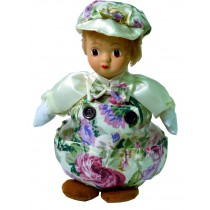 BOY W/WHITE FLORAL PRINT JAR