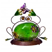 FROG WITH GREEN LED GLASS SMALL