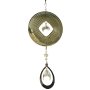 Round Silver Spinner with hanging Crystal Drop 24 inch 889001
